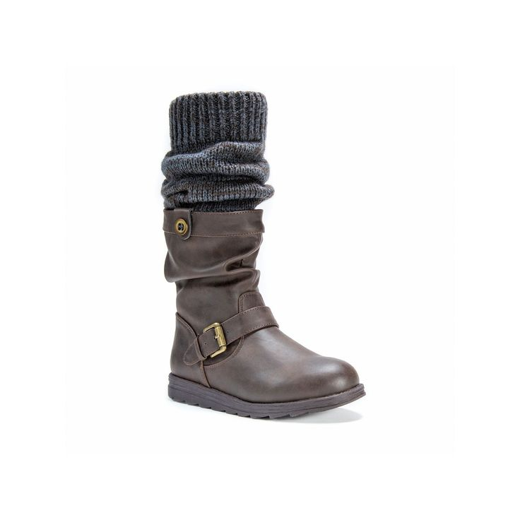 MUK LUKS Sky Women's Riding Boots, Teens, Size: 11, Dark Brown