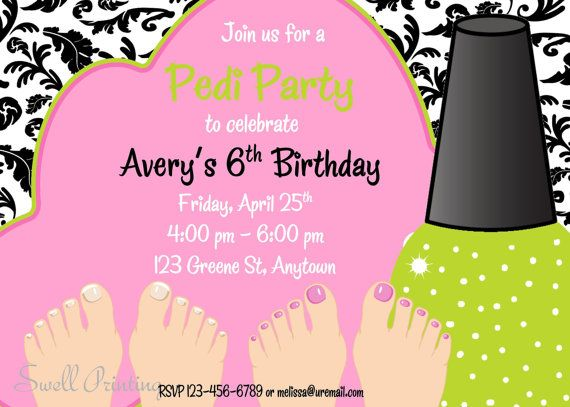 Hey, I found this really awesome Etsy listing at https://www.etsy.com/listing/125334392/pedicure-party-invitation-pedicure