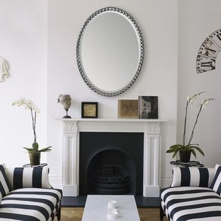 Image result for Large mercury glass oval mirrors
