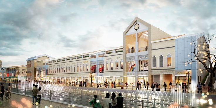 "C4-7BL, No.3 Project  ""LAVENICHE MARCH AVENUE  : Culture Theme Canel & Street Mall CG Perspective View  / ""라베니체 마치에비뉴""  세 번째 프로젝트 C4-7블록 수변상업시설  투시도"