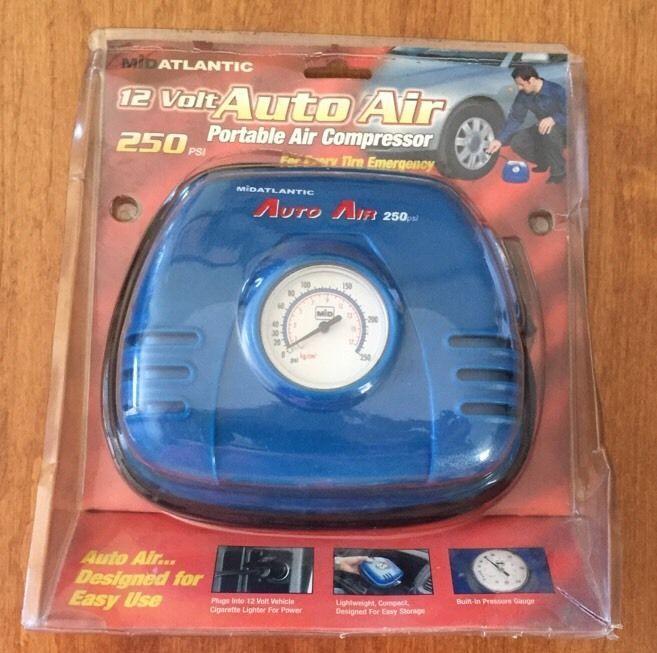 Mid Atlantic 12 Volt Auto Air Portable Air Compressor 250 PSI NEW #MidAtlantic