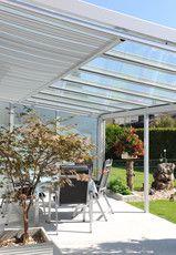 Terrassendach mit Unterdach-Markise