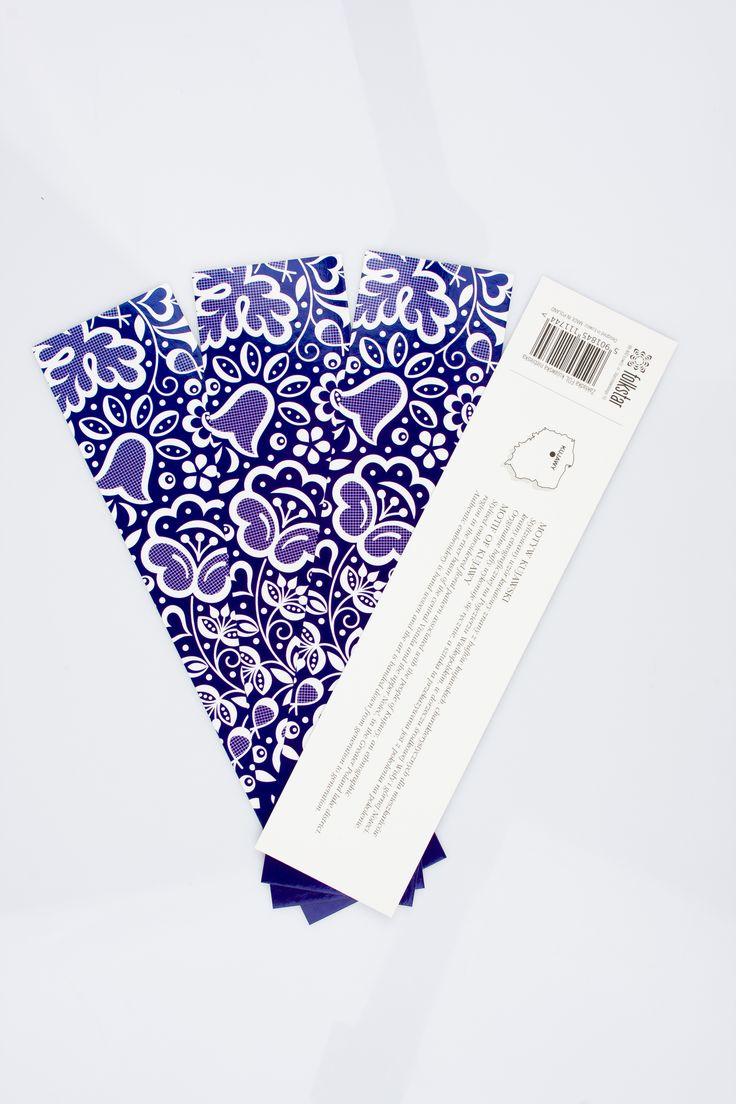 FOLK zakładka do książki - kujawska niebieska