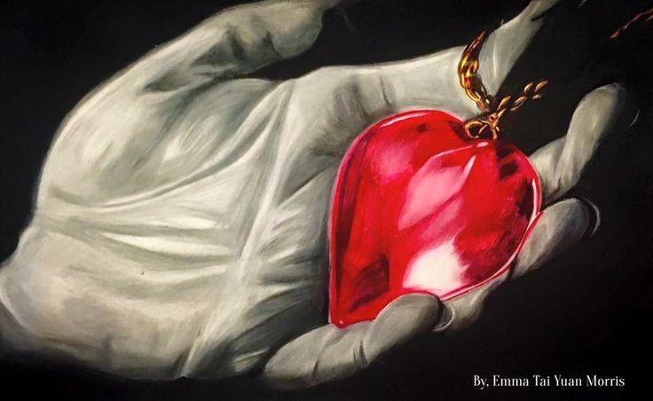 Valentine's Day is around the corner! I drew this to brighten your day:) To send love:) #sullen #sullenclothing #heart #hearttattoo #3d #3dtattoo #love #necklass #art #artwork #artist #socal #tattoo #ink #coloredpencil #la #cali #katvond #peace #happy #hand #drawing #losangeles #laink #davidgarcia #nika #nikkohurtado #romanabrego #romantattoos #creative