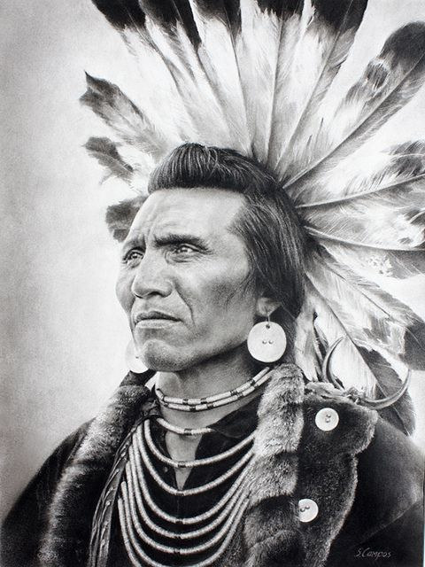 Salish chief Eagle with a golden eagle headdress