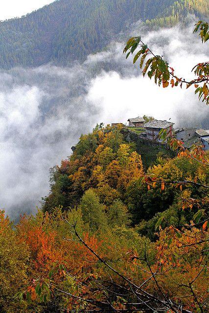 Bourcet, Val Chisone. Piedmont, Italy