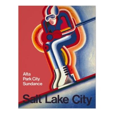 Poster van de Reis van de Ski van Salt Lake City U
