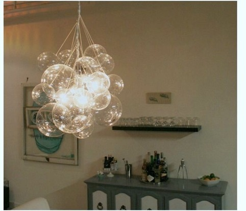 Bubble chandelier how-to