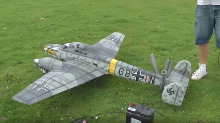 Messerschmitt BF-110 Crash With Onboard Camera