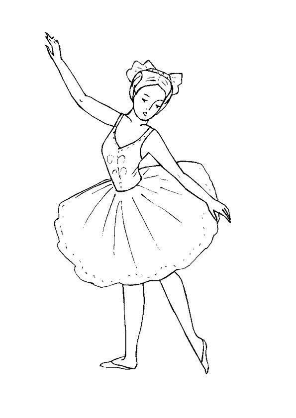 61 best images about coloriages de danse on pinterest - Dessin d une danseuse ...