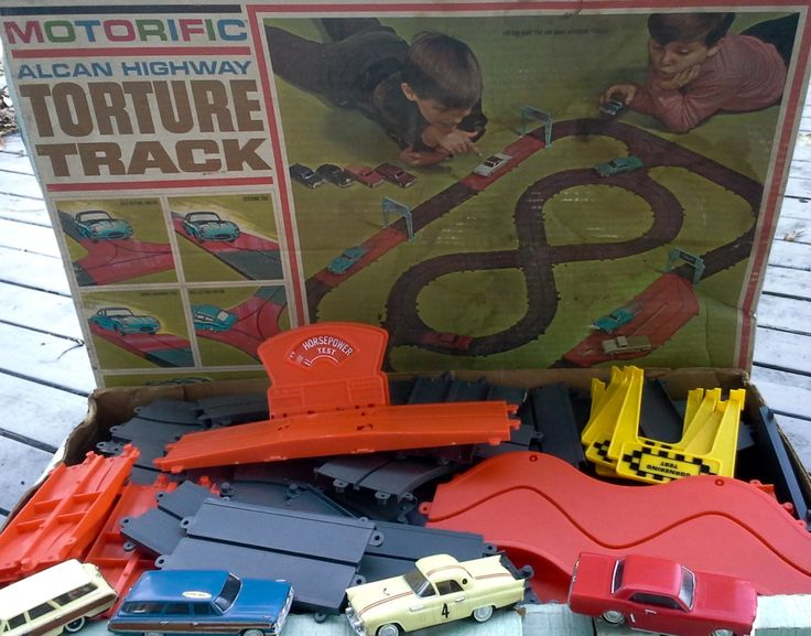 1965 Toys For Boys : Reserved motorific torture track toy by ideal