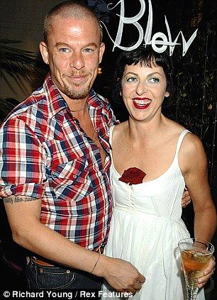 The late Isabella Blow Launching her lipsticks with Alexander McQueen in 2005, who also committed suicide, such huge losses to the fashion industry and of course their friends and family