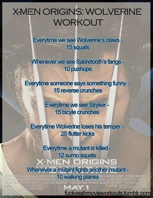 Movie workouts - X-men origins wolverine