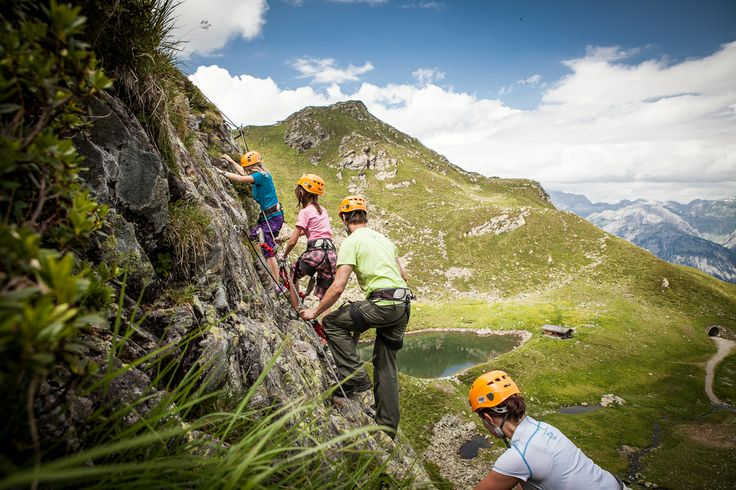 Klettersteig am Kälbersee #silvrettamontafon #hike #klettern