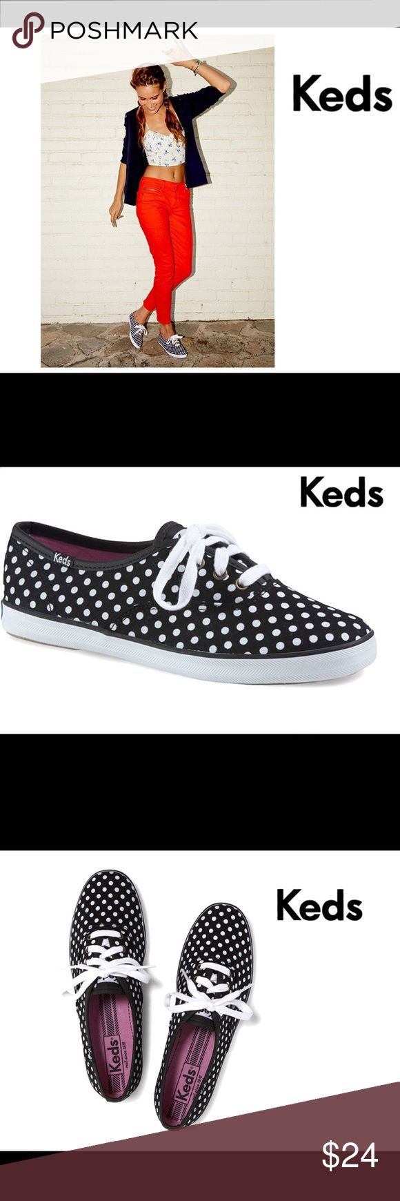 KEDS Champion Dot Black & White Shoes 10 NWOB KEDS Brand Champion Dot Style Women's Size 10 Black & White Shoes. Features Pink Cushioned Interior with Arch Support. White Laces. BRAND NEW WITHOUT BOX. Bundle & Save On Shipping. KEDS Shoes Sneakers