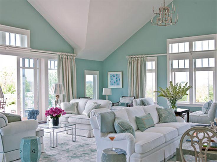 Living Room, Modern Interior Ideas For Living Room Wall Color Trends 2015  Using Light Blue Part 80