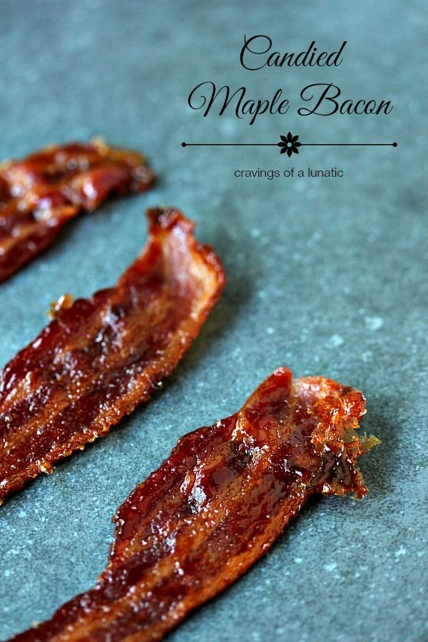 Candied Maple Bacon   So easy to make, this candied bacon is maple flavoured. Sweet, and salty, it's sheer perfection.