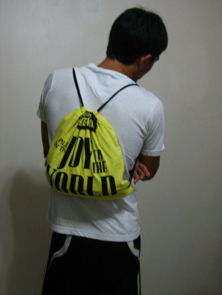 Diy drawstring backpack from a tee drawstring backpack
