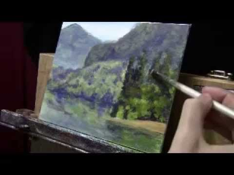 How To Paint a Landscape with Depth and Reflections - Acrylic Painting L...