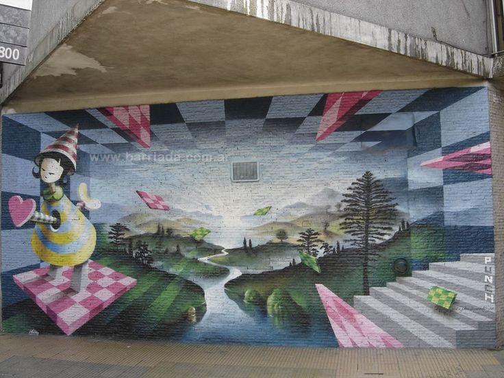 Mural de Peter Daverington en Buenos Aires, Argentina.