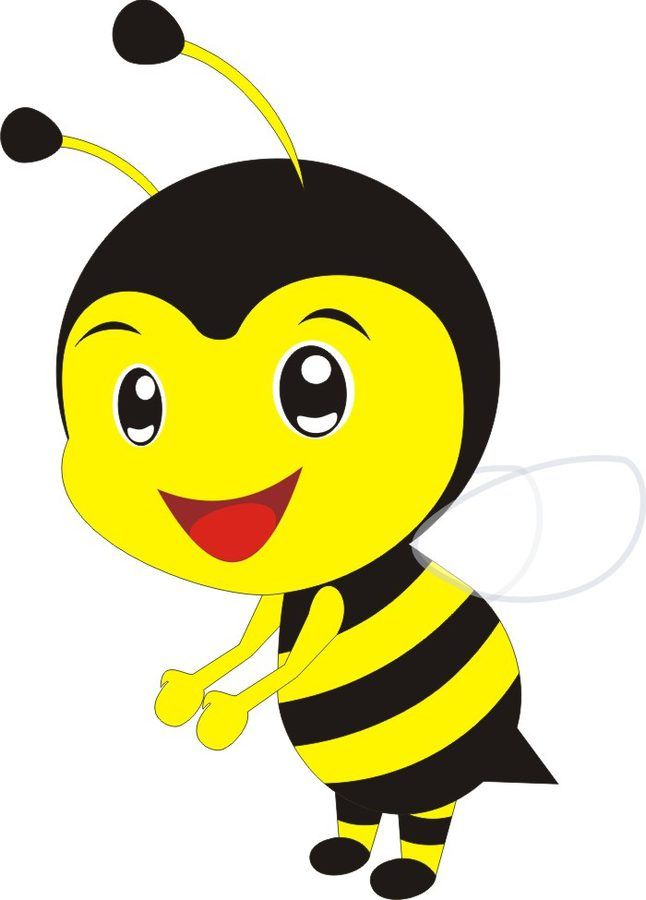 Astronomiczna wiosna – Ozdoby: Pszczółki   Cute cartoon drawings, Book clip art, Baby girl quilts
