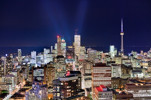 Downtown Toronto, Ontario at night. #Canada #travel #cities
