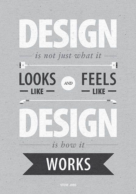 Steve Jobs on designDesign Inspiration, It Work, Stevejobs, Graphics Design, Steve Jobs, Typography, Inspiration Quotes, Design Quotes, Design Posters