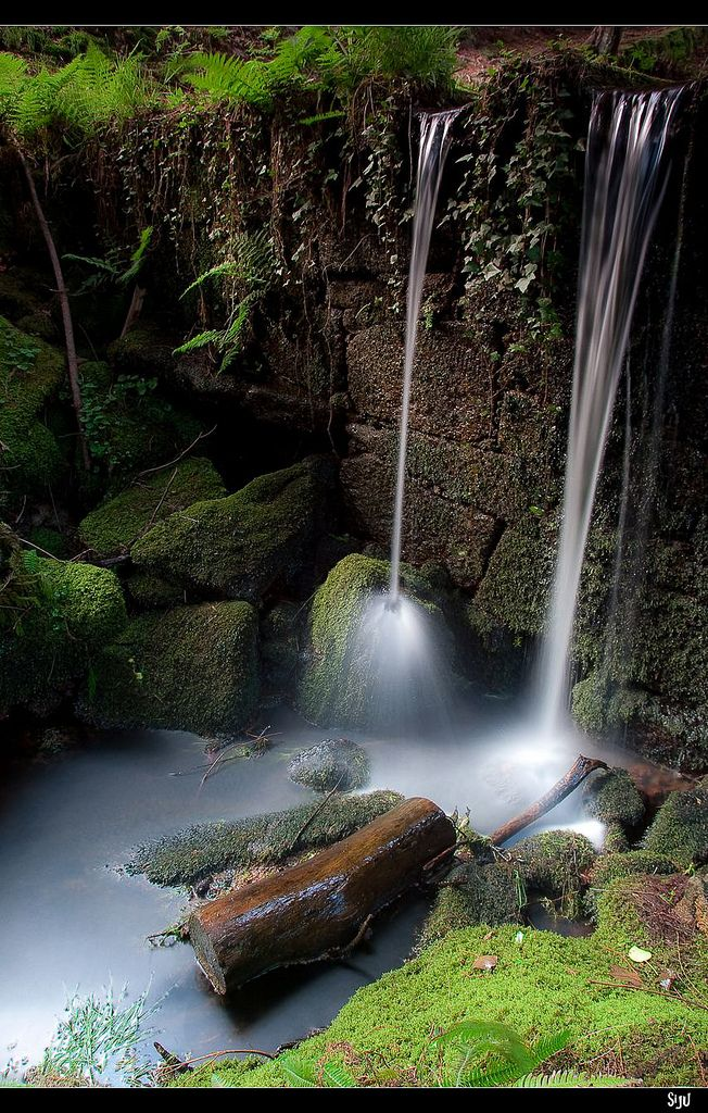 Cascade in EI Monte Alioa en Tui, Galicia_ Spain