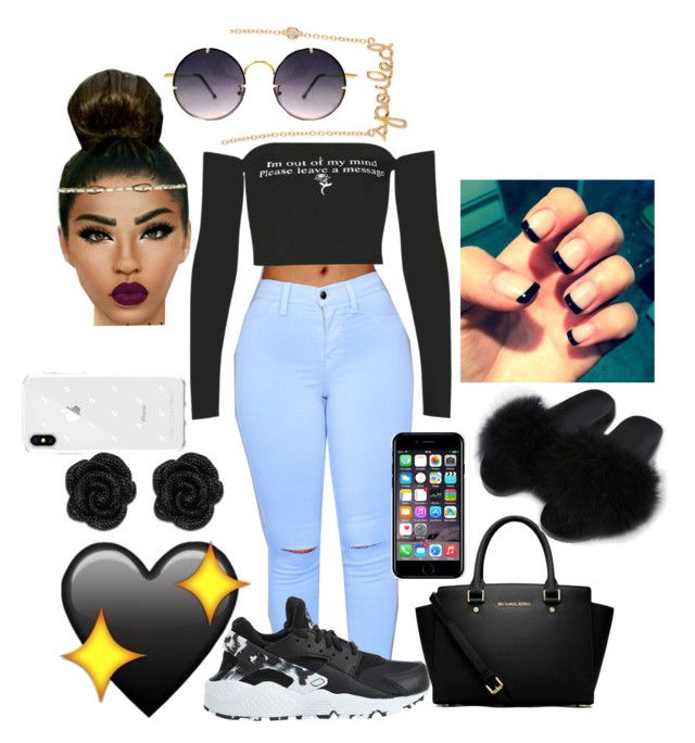 Two phones gang gang by marleymal on Polyvore featuring polyvore fashion style NIKE MICHAEL Michael Kors Sydney Evan Rebecca Minkoff Off-White Spitfire clothing