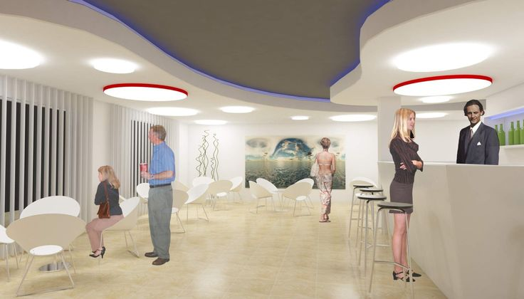 3d interior de recepci n de hotel zonas comunes - Iluminacion falso techo ...