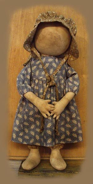 Primitive Prairie Doll by sweetmeadowsfarm