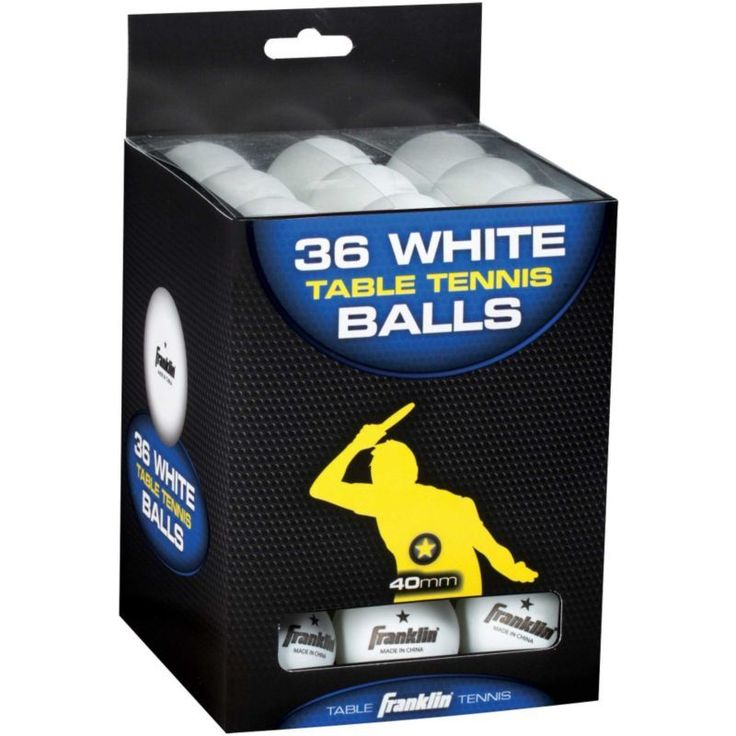 Franklin 40mm One-Star Table Tennis Balls 36 Pack