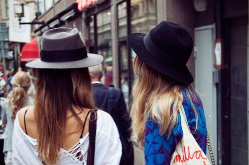 hats. Ladies Street Style. Women's Fashion