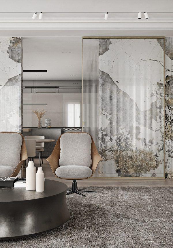 Magnificent Modern Marble Interior With Metallic Accents With Images Marble Interior Interior Architecture Interior Design