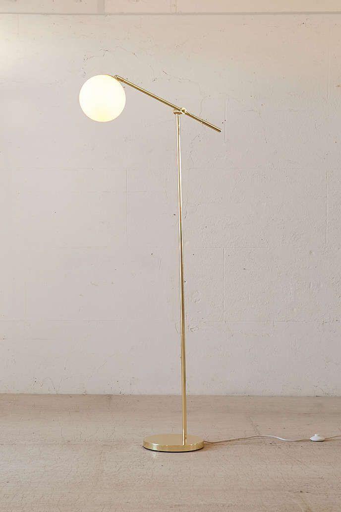 3ccdf8ff64b1 Globe Floor Lamp in 2019 | Lamp Bedroom | Modern floor lamps, Brass ...