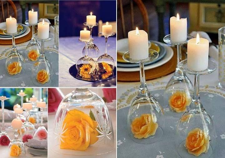 Taças + Flores + Velas