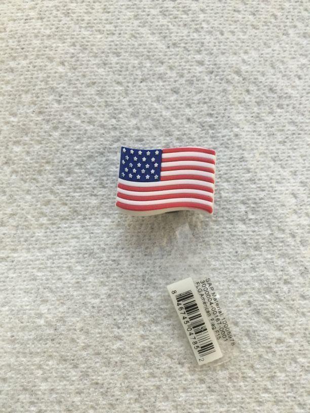 RARE UNITED STATES FLAG JIBBITZ USA FLAG SHOE CHARM FITS CROCS USA FLAG JIBBITZ #Jibbitz