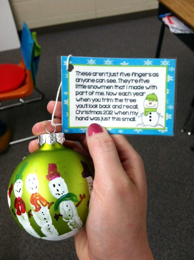 Handprint Snowman Ornaments with a Poem...these are the BEST Christmas Ornament Ideas!