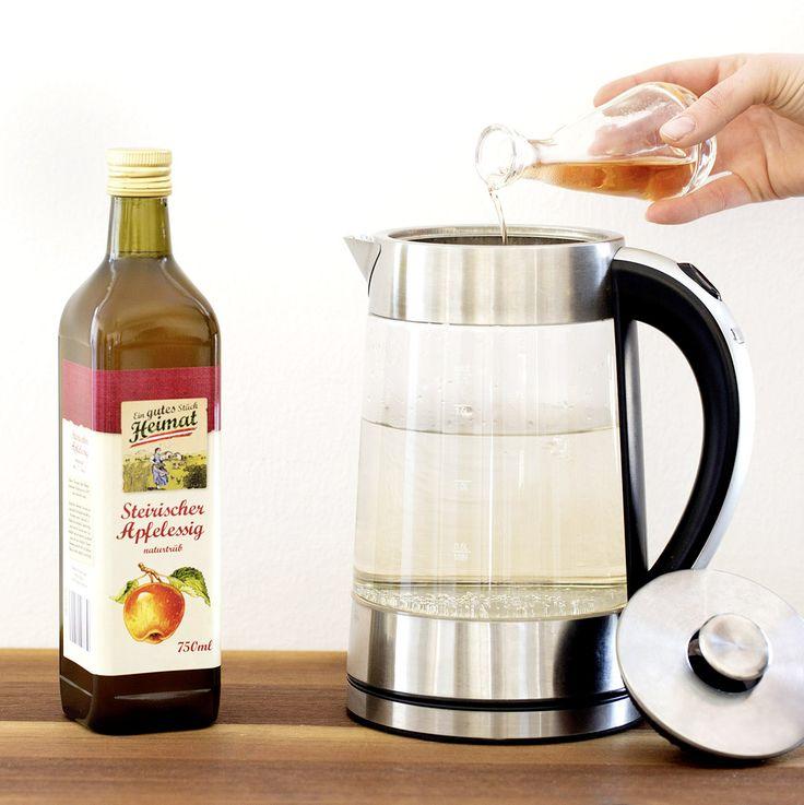 Wasserkocher mit Apfelessig entkalken Lidl Österreich
