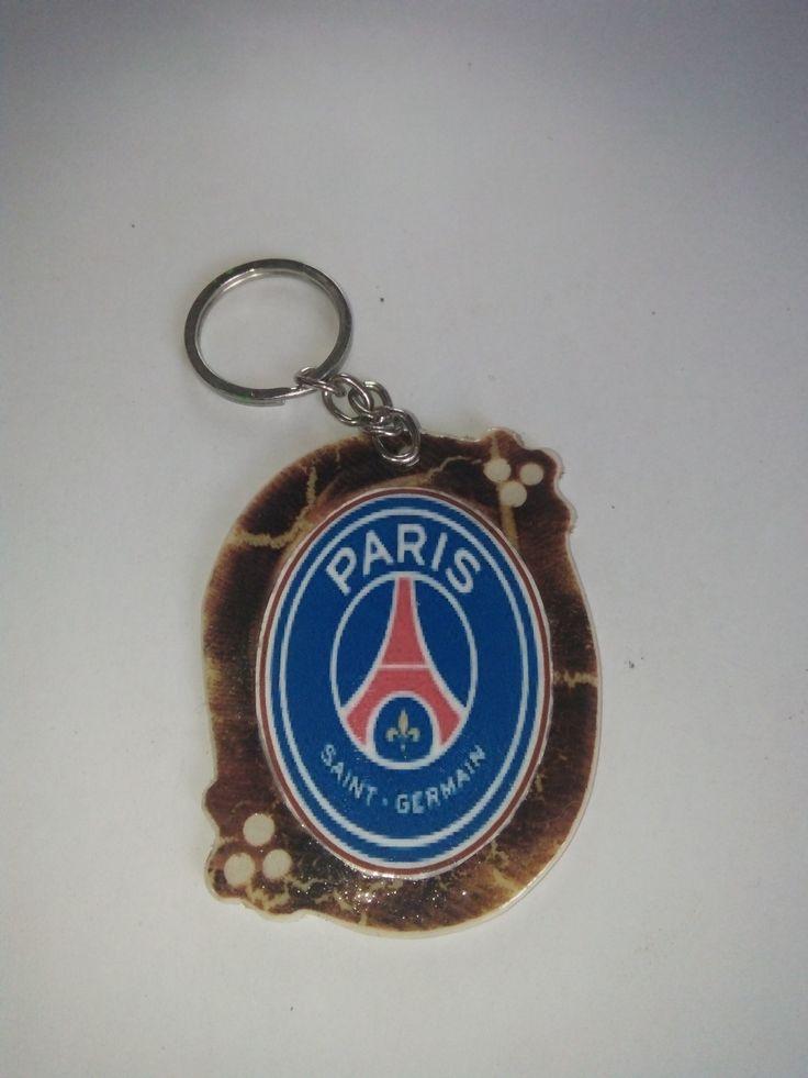 Gantungan Kunci Paralon Bakar Logo Klub Sepakbola PSG