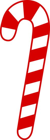 simple red candy cane clipart