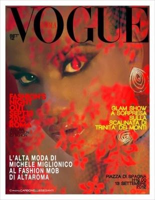 Michele Miglionico al Vogue Fashion's Night Out   Piazza di Spagna, Roma