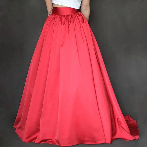 Dyona / Spoločenská zbieraná sukňa s vlečkou rôzne farby