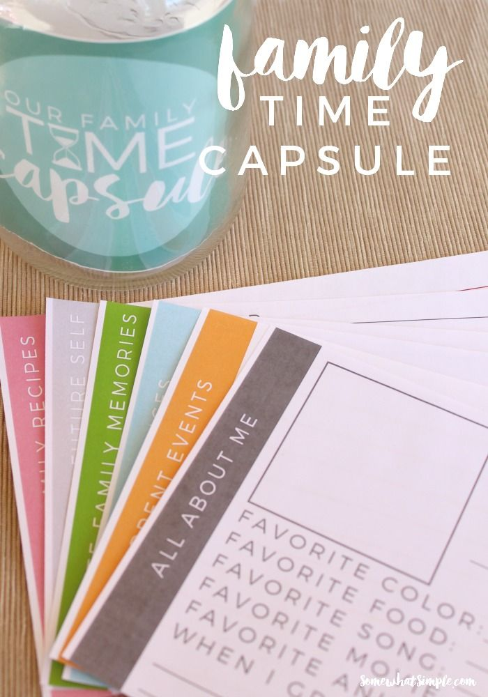 Family Time Capsule - Free Printables - Add favorite saints, scripture quotes ect. for a faith-filled twist!