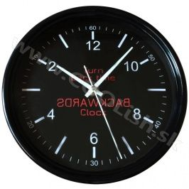 COOL Dárek Backwards Clock obrácené hodiny černé http://www.coolish.sk/cz/doplnky-darceky/backwards-clock-obratene-hodiny-cierne/