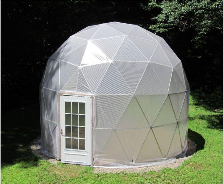 Se pinterests topplista med de 25 b sta id erna om for Geodesic greenhouse plans free