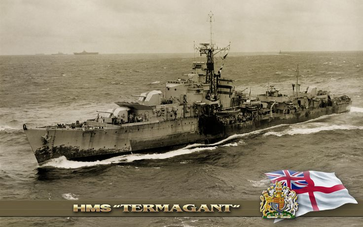 HMS Termagant (R89) was a T-class destroyer of the British Royal Navy that saw service during the Second World War.