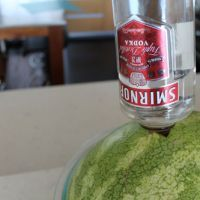 Pour a bottle of vodka into a whole watermelon,great for a party! Can't wait to try this one,