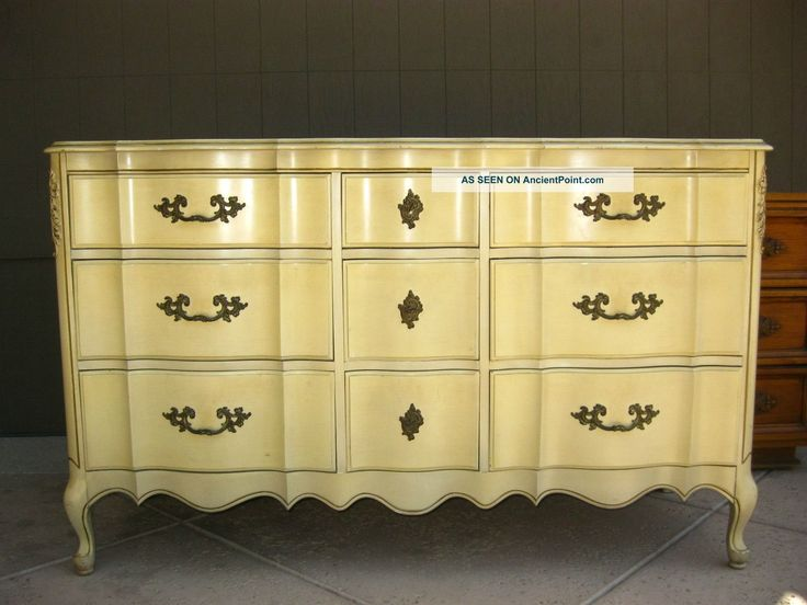 Vintage French Provincial Dixie Style Tall Dresser Dovetail 9 Drawers Post 1950 Photo