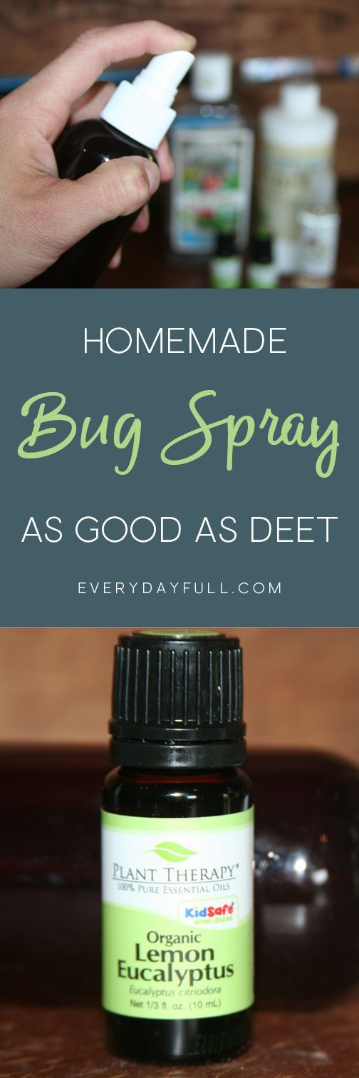 DIY BUG SPRAY - This bug repellent is as effective as DEET without the harmful ingredients. It's natural, non-toxic and has a secret ingredient that will help the scent last to keep the bugs away.